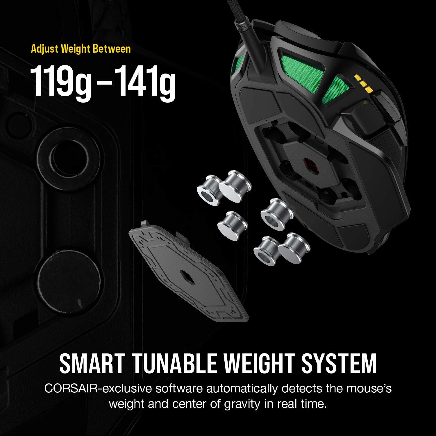 Corsair Nightsword RGB Tunable FPS/MOBA Optical Gaming Mouse - PC Games