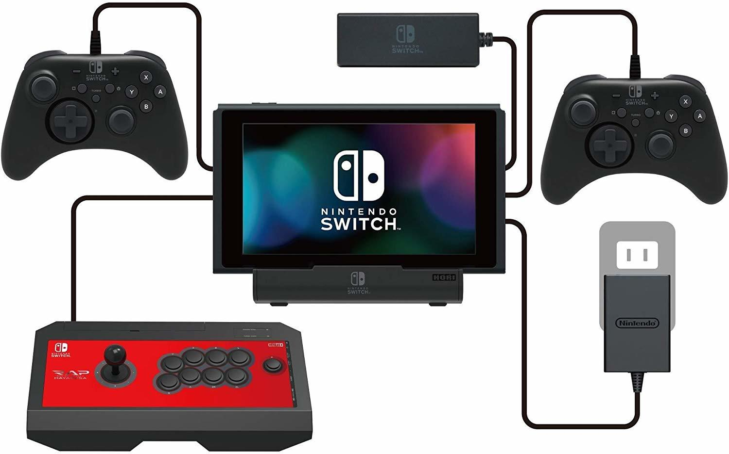 Hori Official Licensed Nintendo Switch MultiPort Playstand Dock and Charger - Nintendo Switch