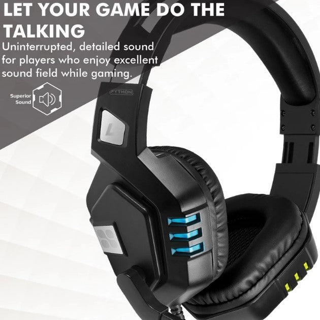 Promate: High Performance Gaming Headset with Microphone - Black