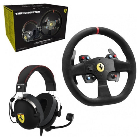Thrustmaster Ferrari 599xx Evo Wheel + T Racing Ferrari Alcantara Headset Bundle (PS4, PS3, Xbox One & PC) - PS4