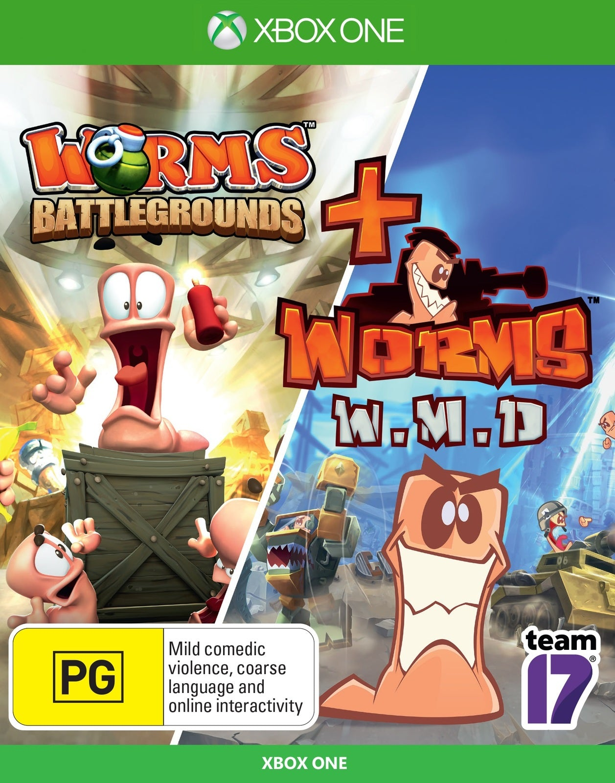 Worms Battlegrounds + Worms WMD Double Pack - Xbox One