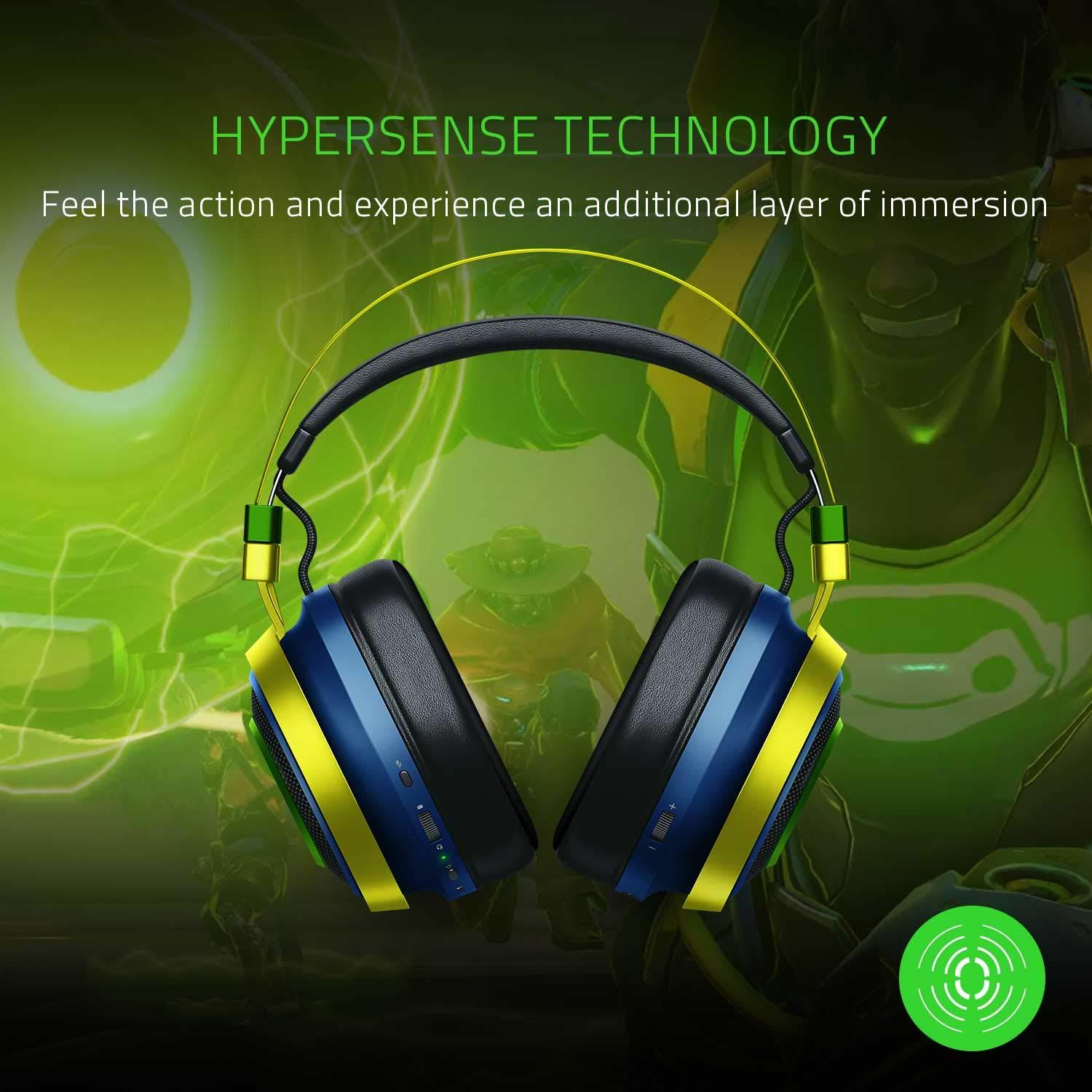 Razer Nari Ultimate Wireless Gaming Headset (Overwatch Lucio Edition) - PC Games
