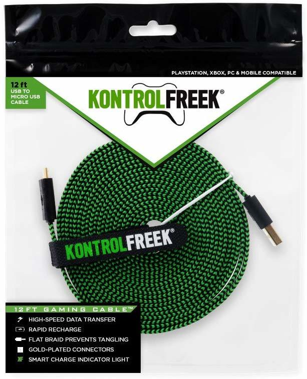 Kontrol Freek Gaming USB Cable (Green & Black) - PS4