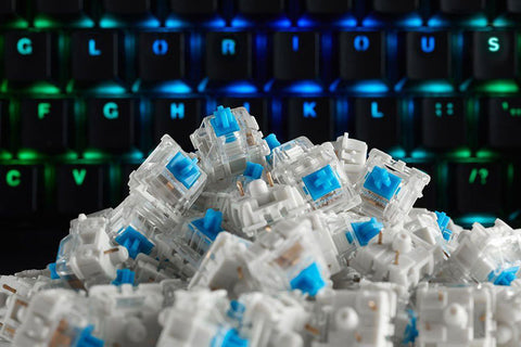 Glorious PC Gaming Gateron Mechanical Switches (Blue) - PC Games