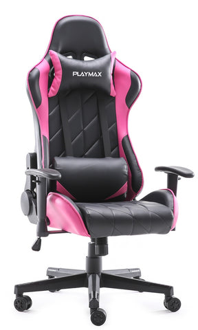 Playmax Elite Gaming Chair - Pink and Black