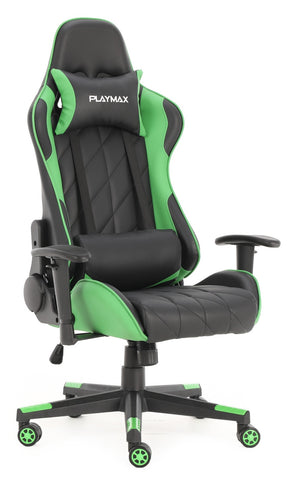 Playmax Elite Gaming Chair - Green and Black
