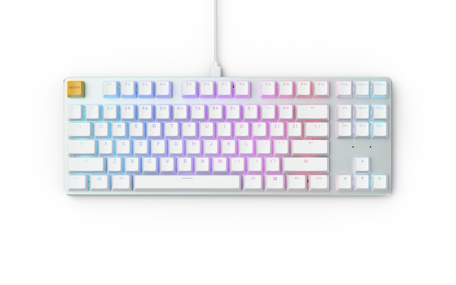 Glorious PC Gaming GMMK TKL Mechanical Keyboard (White) (USA - Prebuilt) - PC Games