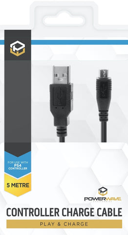 Powerwave 5M Controller Charge Cable for PS4 - PS4