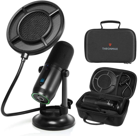 Thronmax MDrill One PRO Multi-Pattern Streaming USB Microphone (Kit) - PC Games