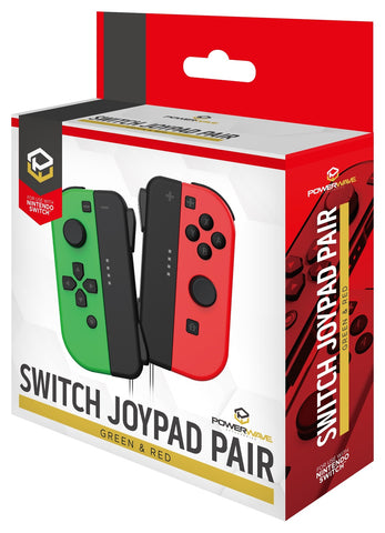 Powerwave Switch Joypad Green & Red - Nintendo Switch