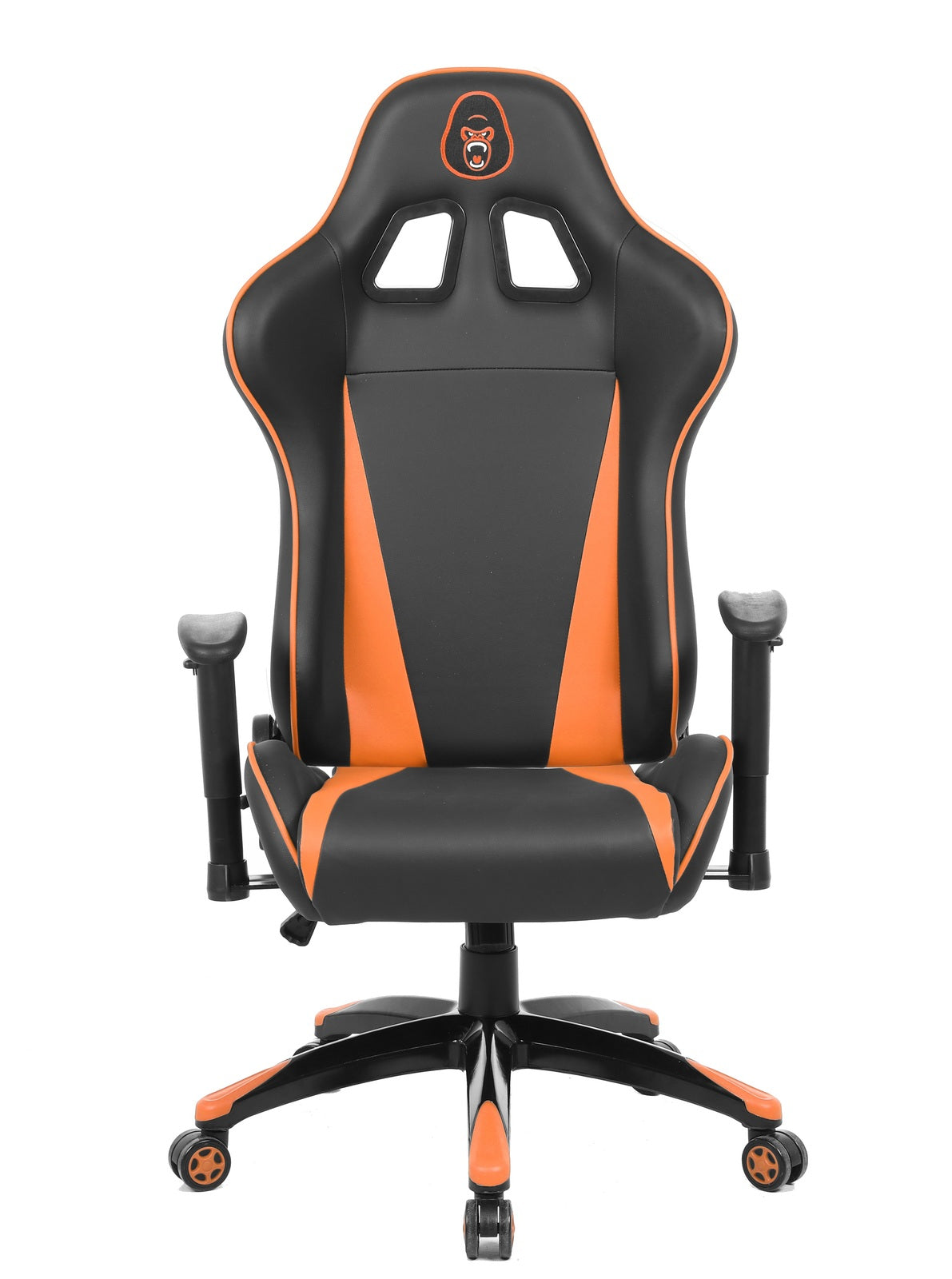 Gorilla Gaming Commander Chair - Orange & Black
