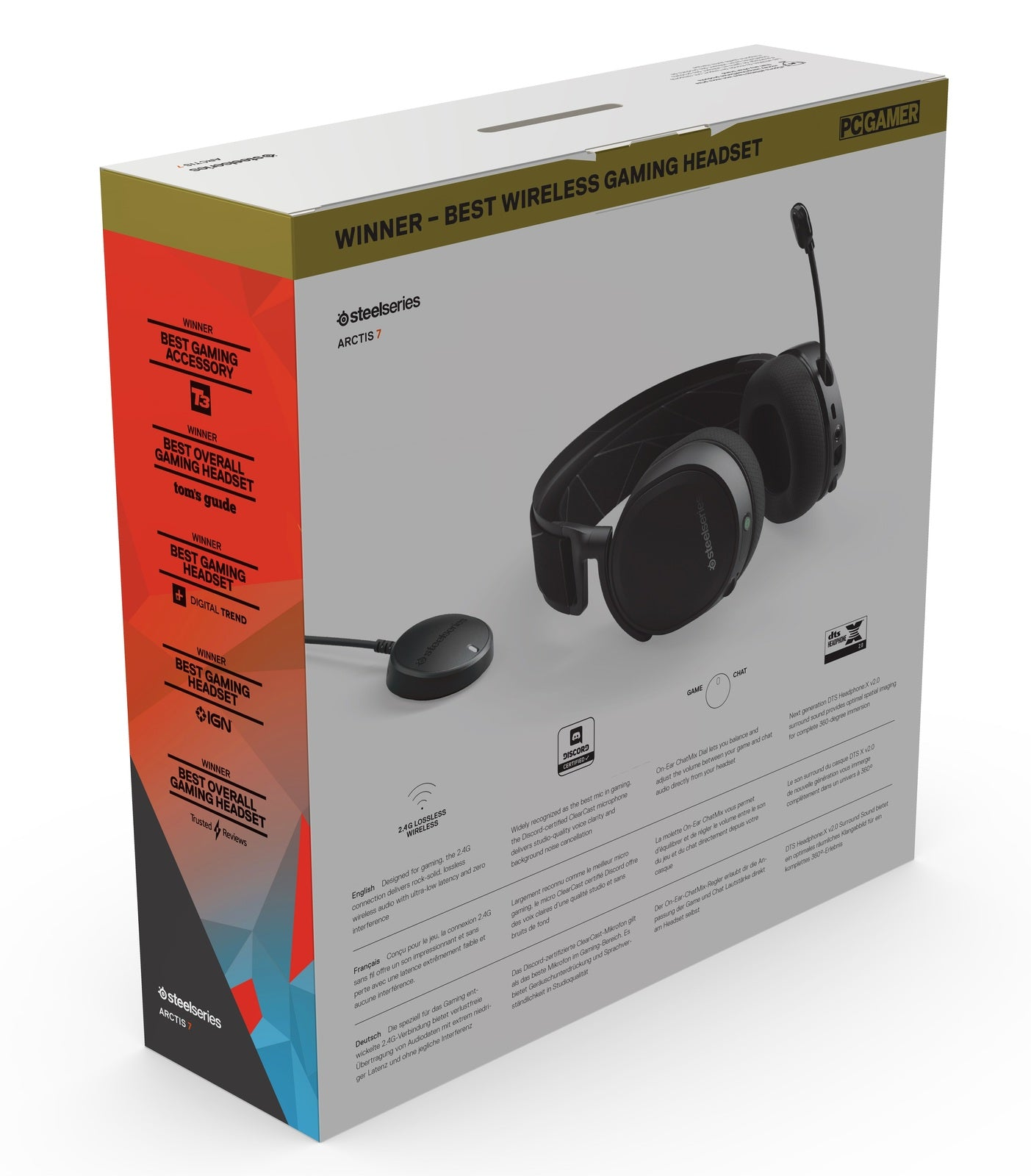 SteelSeries Arctis 7 Wireless Gaming Headset (Black) - PC Games