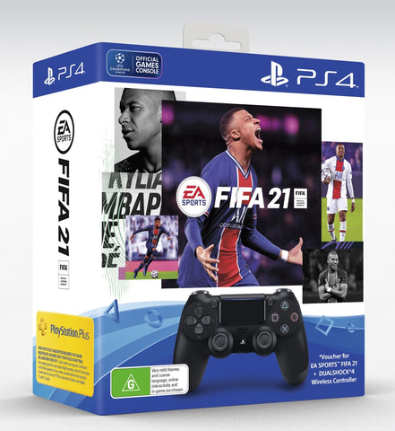 PlayStation 4 Dualshock 4 v2 Wireless Controller + FIFA 21 - PS4