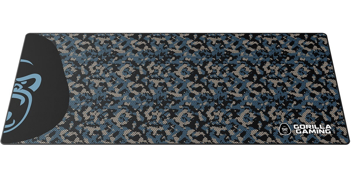 Gorilla Gaming Extended Mouse Pad - XL (Blue Camo) - PC Games