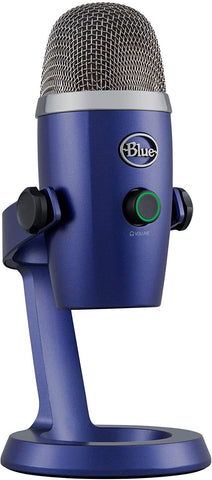 Blue Microphones Yeti Nano Premium USB Microphone - Vivid Blue - PC Games