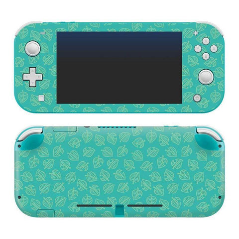 "Nintendo Switch Lite Animal Crossing ""Teal Leaves"" Skin - Nintendo Switch"