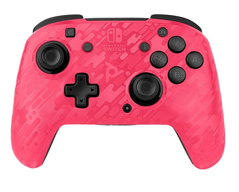 PDP Faceoff Deluxe Wireless Controller - Pink Camo - Nintendo Switch