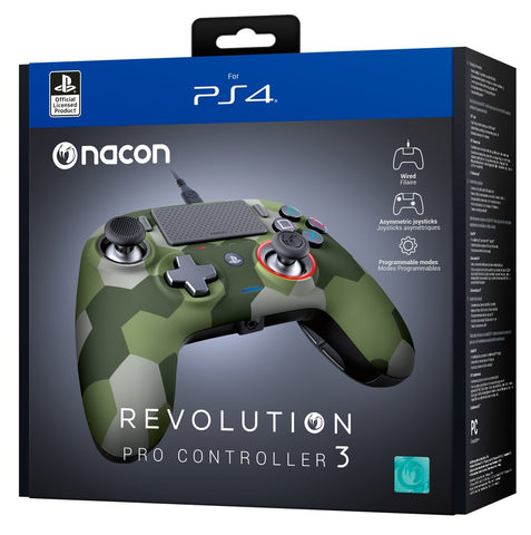 Nacon PS4 Revolution Pro Gaming Controller v3 (Camo Green) - PS4