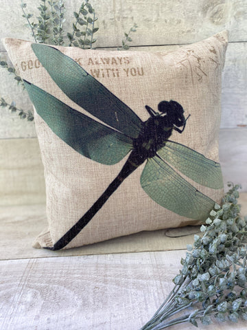 Always with you Dragonfly Pillow