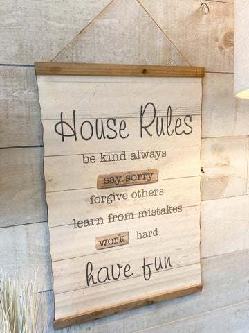 House Rules Banner