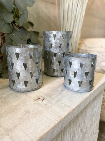 The Tin Heart Candle Holder