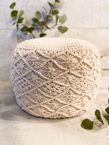 The Moroccan Knit Pouff