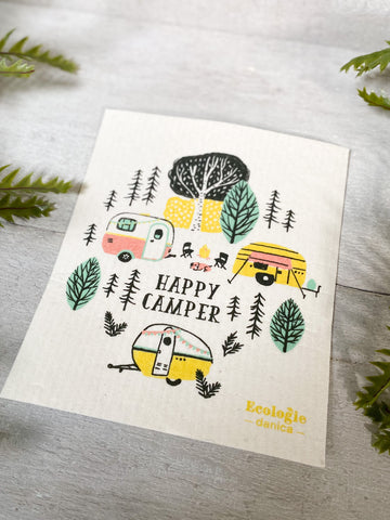 Happy Camper Swedish Dish Cloth