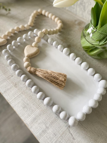 The Ceramic Beaded Tray - rectangle