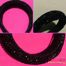 Load image into Gallery viewer, Black Bling Headband