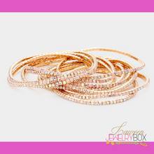 Load image into Gallery viewer, Bling Stackable Bangles