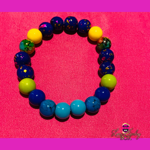 Non-Matching Blues (Stretch) Bracelet