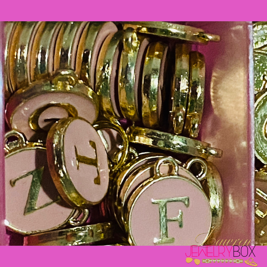 Pink Initial Bracelets