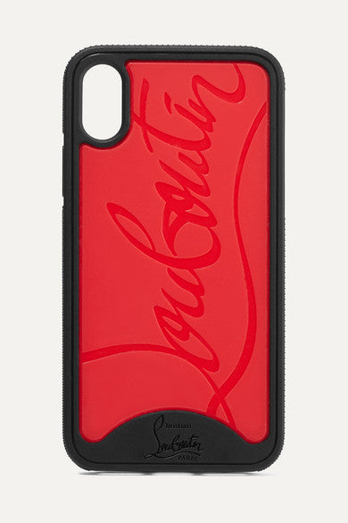 CHRISTIAN LOUBOUTIN Loubiphone embossed PVC iPhone X and XS case