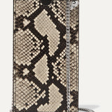 ALEXANDER MCQUEEN Snake-effect leather phone case