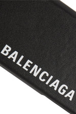 BALENCIAGAPrinted textured-leather iPhone 7 and 8 case