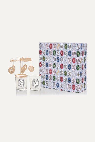 DIPTYQUE Baies and Roses carousel set, 2 x 70g