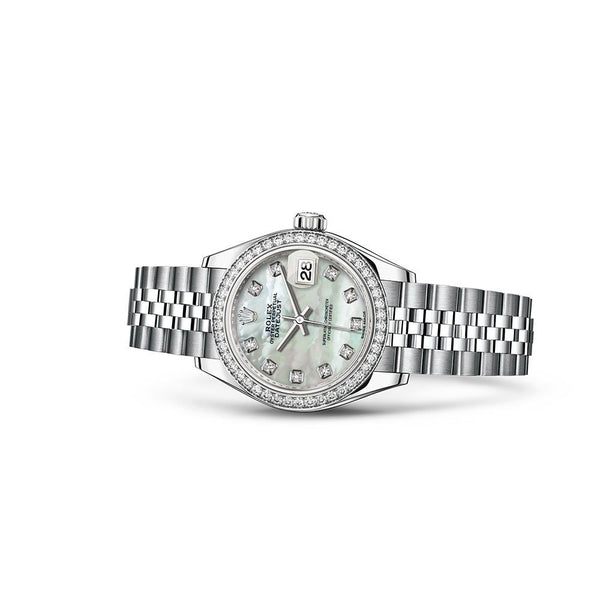 Rolex Lady-Datejust, White Gold & Diamonds - GindiLife.com