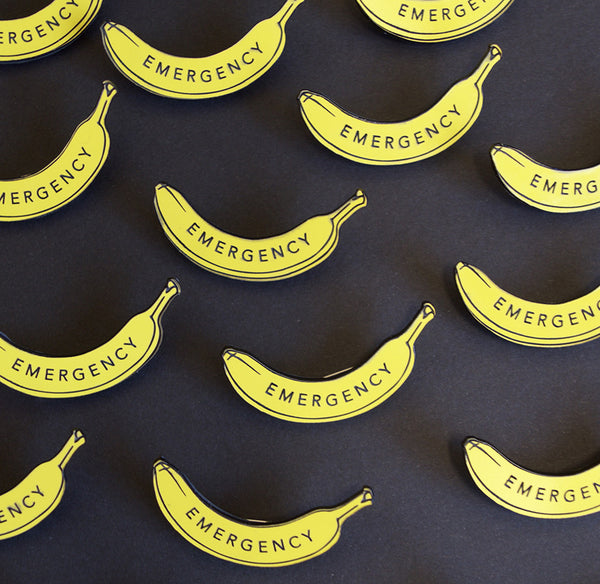 Emergency Banana Lapel Pin