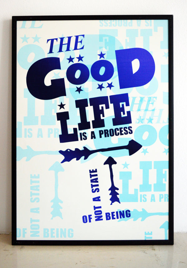 carl rogers, the good life, being not doing, typography, the good life experience