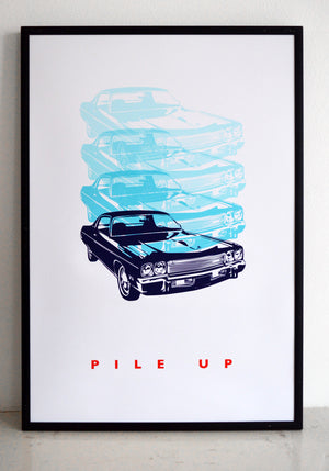wall art, car print, top gear, american car, vintage car