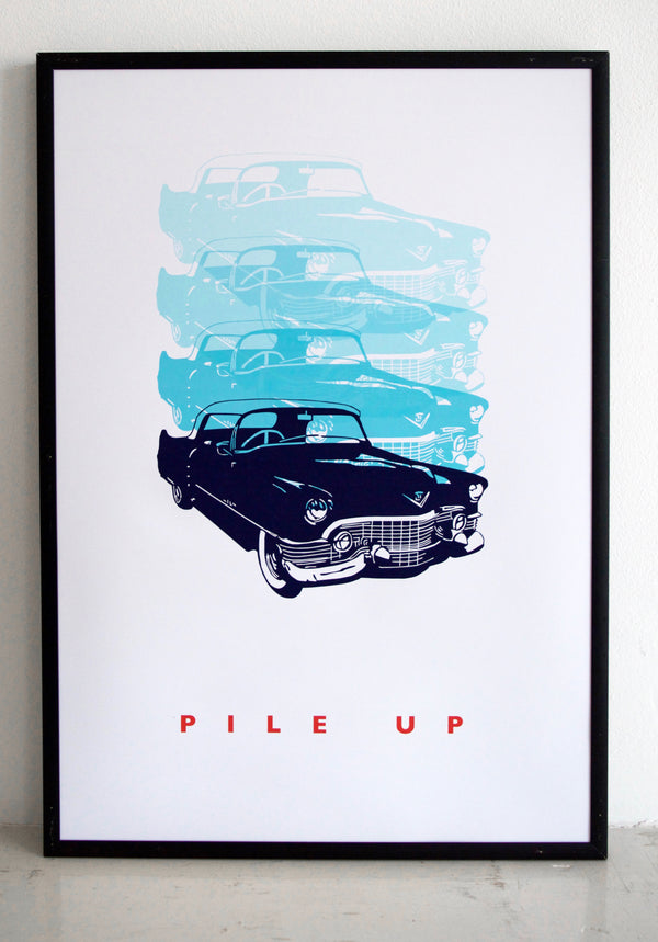 wall art, car print, top gear, vintage car, cadillac print