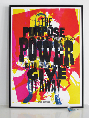 election 2015, Nye Bevan quote, labour party, NHS, art print, lucky budgie,  letterpress, poster, nhs poster, power, wrestling, wrestlers, 1970's, post war print,