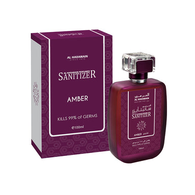 AMBER PERFUMED HAND SANITIZER 100ML - Al Haramain Perfumes