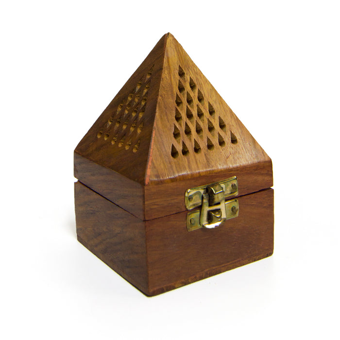 Wooden Pyramid Burner Small - Al Haramain Perfumes