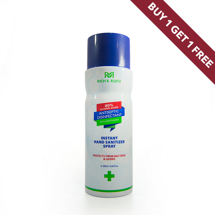 Instant Hand Sanitizer Spray with Moisturizer 200ml BOGOF - Al Haramain Perfumes