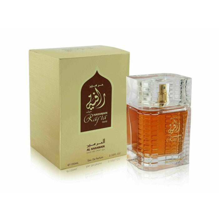 RAFIA GOLD SPRAY 100ML - Al Haramain Perfumes