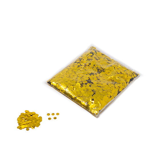 Gold 10mm Round Metallic Confetti