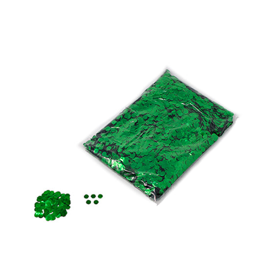 Green 10mm Round Metallic Confetti
