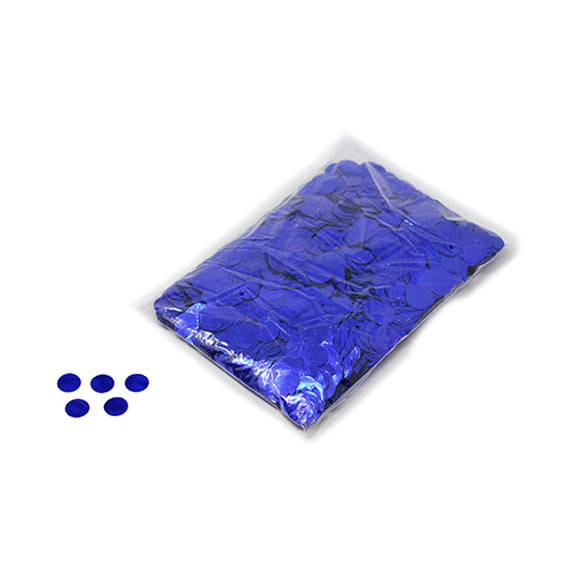 Blue 20mm Round Metallic Confetti