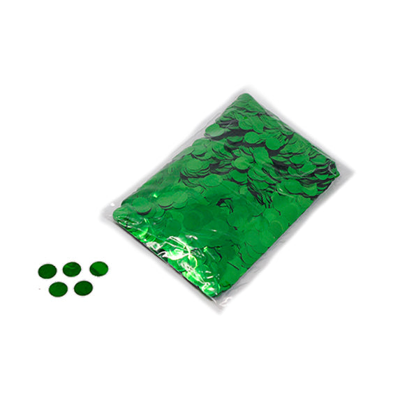 Green 20mm Round Metallic Confetti